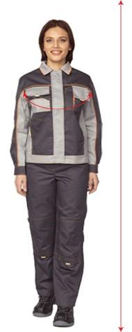 Таблица для определения размеров женской одежды ПРАБО